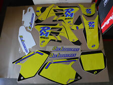 One Industries Retro Team graphics with number plates RMZ250 2007 2008 2009 RMZ