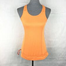 Layer 8 Small Tank Top Orange Workout Blouson Qwick-Dry Athletic Yoga Zumba