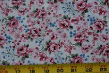 """VINTAGE cotton CREME with TINY print floral FABRIC 44/""""W SOLD By the 1//2 Yard"""