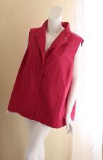 Eileen Fisher -Sz XL 1X HOT Pink Gorgeous Cotton Nylon Minimalist Vest Jacket