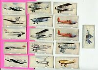 1938 GODFREY PHILLIPS CIGARETTES AIRCRAFT 1ST SERIES 16 CARD LOT