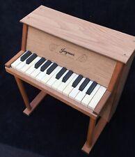 Vtg 25-KEY JAYMAR TOY PIANO, Antique Childrens Upright Wooden Musical Instrument