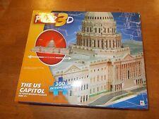 MB Puzz3D, U.S. Capitol 3D Foam Backed Puzzle, 300 intermediate pcs, Ages 12+