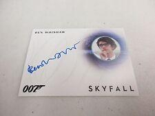 2017 James Bond Archives Final Edition Ben Whishaw as Q Autograph A283