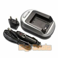 Battery Charger for PANASONIC DMW-BCF10 Lumix DMC-FS12 Wall + Car Adapter