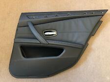 BMW E60/E61 LCI REAR RIGHT DOOR CARD DAKOTA BLACK LEATHER  6984390