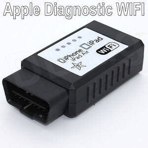 WIFI iCar ELM 327 OBDII OBD2 Diagnostic Scanner apple for iOS Android iPad AIR