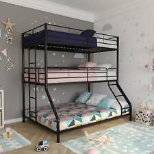 Triple Metal Bunk Bed Sturdy Frame Twin Space Saving Furniture Twin/Twin/Full