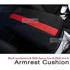 Center Console Sports Red Line Armrest Support Cushion 1EA For INFINITI Car