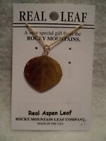 GENUINE ROCKY MOUNTAIN ASPEN LEAF NECKLACE ~ NATURAL ~ NEW!!