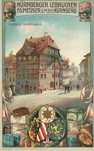 C-1910 Nurnberg Germany Gingerbread Advertising Postcard 21-10437