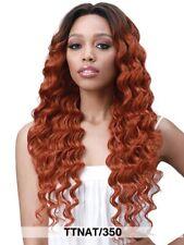 "Bobbi Boss Human Hair Blend 13x6 Lace Front Wig - OCEAN WAVE 26"" color:Nat.Black"