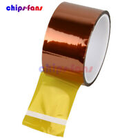 5/10/20/30/50mm x 33M Gold High Temperature Heat Resistant Kapton Tape Polyimide