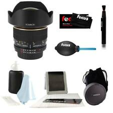 Rokinon 14mm f/2.8 IF ED UMC Lens For Nikon with AE Chip (FE14MAF-N) + Care Kit
