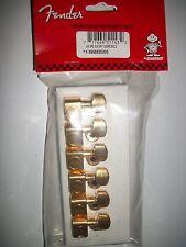 NUEVO Mecanismos oro FENDER USA 6 en línea 0990820200 para guitarra strat, tele