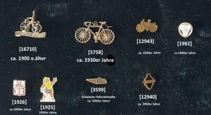 Draisine/Fahrrad/Rennrad Abzeichen Anstecknadeln ca.1900-1950 AUSSUCHEN