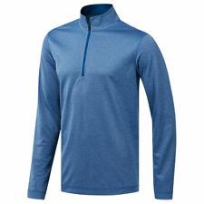 adidas Golf Mens UV Protection 1/4 Zip Long Sleeve Top Sweatshirt Sweater