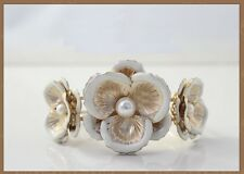 B416 Forever 21 Lily Summer Flower Lily Daisy Bride Wedding Bangle Bracelet US