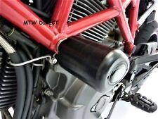 Ducati Hypermotard 1100 Evo edition R&G Racing black aero crash protectors bungs