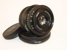 INDUSTAR - 50   50 mm f 3,5 Soviet lens  Fed,zorky, Leica adapter m39 + sony Nex