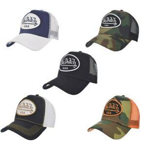 Von Dutch USA Unisex Logo Patch Adjustable Snapback Trucker Cap Baseball Hat