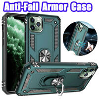 For iPhone 11 Pro X XS Max XR 7 8 6s Plus Case Shockproof Armor Ring Stand Cover
