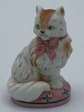 Franklin Mint Curio Cabinet Cats Collection 1986 Staffordshire Cat Figurine