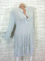 NEU Blogger Hängerchen Kleid Tunika Volant Print 38 40 42 Grau K287 ITALY