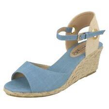 Sandalias y chanclas de mujer de color principal azul de lona Talla 39