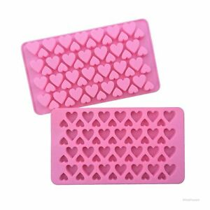 Silicone Mini 56 Heart Cake Chocolate Cookie Baking Mould Mold Jelly Baking Tray