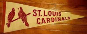 Vintage St. Louis Cardinals 1940's Pennant Full Size