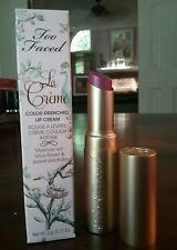 Too Faced La Creme Color Drenched Lip Cream in Lollipop .11 oz New in Box