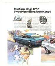 """(RST22) POSTER/ADVERT 26X11"""" FORD MUSTANG II SUPERCOUPE"""