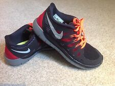 NIKE FREE RUN 5.0 RUNNING BLACK/SILVER/GRY/RED UK SIZE 5-EURO 38