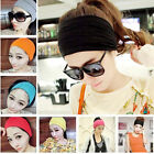 Women Wide Yoga Headband Stretch Hairband Elastic Hair Band Turban Gym Run CHIC