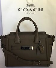 COACH 55496 Swagger 27 Glovetanned Leather DK/Fatigue Handbag Purse New See Note