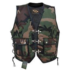 Camouflage Textil Kutte Bikerweste Rockerweste leichte Herren Weste Chopper 938