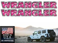 Jeep Wrangler Hood decals stickers - Pink Camo - 2 pc set - Jeep Rubicon