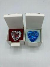 New ListingSwarovski Scs Renewal Gift Blue Heart + Clear Heart