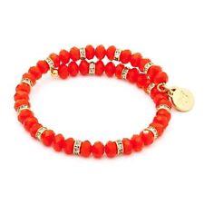 Chrysalis Gold Plated Spring Orange Wrap Bangle Bracelet - CRBW0009GPORAN