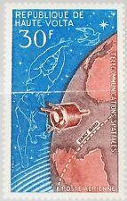 UPPER VOLTA OBERVOLTA 1965 172 C27 Space Communication Satellite over Globe MNH