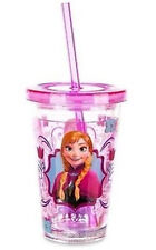 Disney~FROZEN~ANNA~Tumbler~with Straw & Lid~8oz~Disney Store Exclusive~RARE~NIB