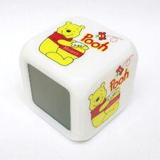 GIFTS FOR KIDS NEW 7 LED Colour Winnie the Pooh Digital ALARM CLOCK Nursery