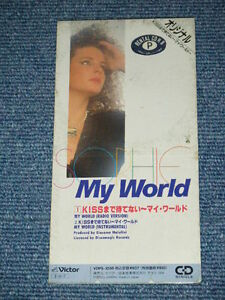 """SOPHIE Japan Only 1989 Tall 3""""inch CD Single MY WORLD ITARO EURO BEAT"""