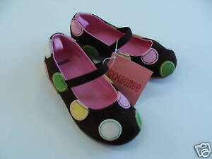 Gymboree Tea for Two Girls Size 7 Brown Dot Shoes NEW