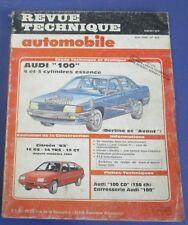 Revue technique automobile rta 455 1985 Audi 100 4 & 5 cyl essence