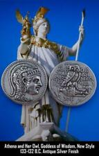 Athena & Owl with Amphora, Greek Coin Percy Jackson Teen Gift, New Style (83-S)