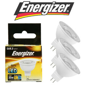 Energizer LED MR16 GU5.3 Bulbs 3.9w = 25w 4W = 35W Spot Light Lamp 3000k/4000k