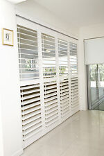 Shutters Plantation Timber 2 Panels 1053 MMW x 1887 MMH in Antique Colour