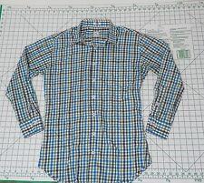 PETER MILLAR Long Sleeve Button Down Shirt - Men's Size M - Plaid Casual
